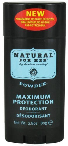 Herban Cowboy Natural for Her Deodorant Stick Powder Scent - 2.8 Oz, Pack of 4 (image may vary)