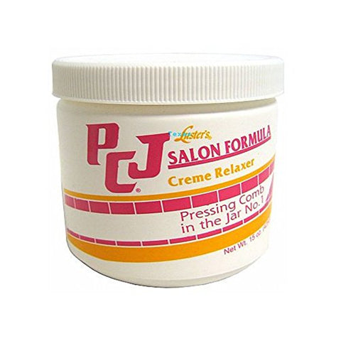 PCJ Salon Formula Creme Relaxer Pressing Comb in the Jar 15oz