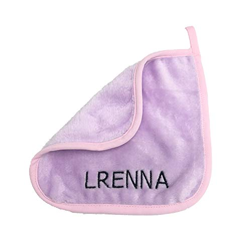 LRENNA Reusable Make-up Removing Water Clean Towel Facial Microfiber Makeup Remover Cloths 8x8 Inch (8 Pack, Light Purple)