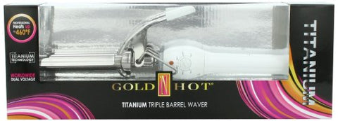 Gold 'N Hot Titanium Triple Barrel Waver