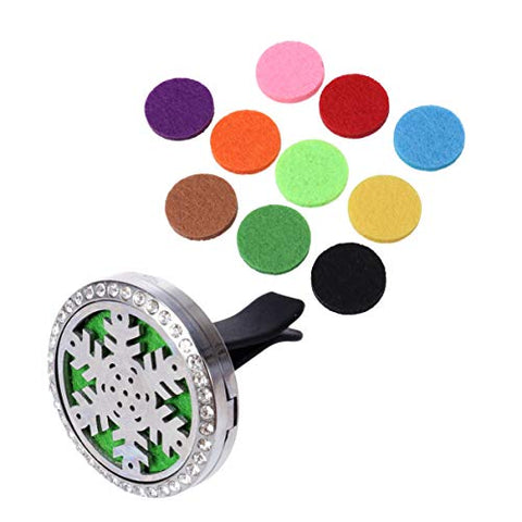 Exceart Car Perfume Clip Stainless Steel Car Air Freshener Air Vent Clips Air Vent Decorative Perfume with Aromatous Slice for Cars Auto Truck Decoration
