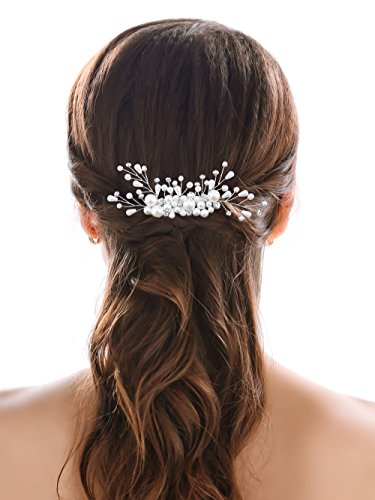 Aukmla Wedding Hair Combs Bridal Hair Accessories Decorative Headpieces for Women and Girls