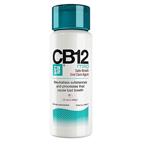 CB12 Mild Mint Menthol Mouthwash (250ml) - Pack of 2 by CB12