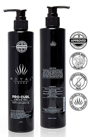 Royal Locks Pro Curl Cream Gel For Defining And Activating Wavy And Curly Hair | Lightweight Cream G