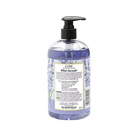 Capri Essentials Natural Hand Soap with Essential Oils - White Lavender, 16 oz.