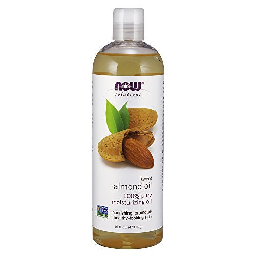 Now Solutions, Sweet Almond Oil, 100% Pure Moisturizing Oil, Promotes Healthy Looking Skin, Unscente