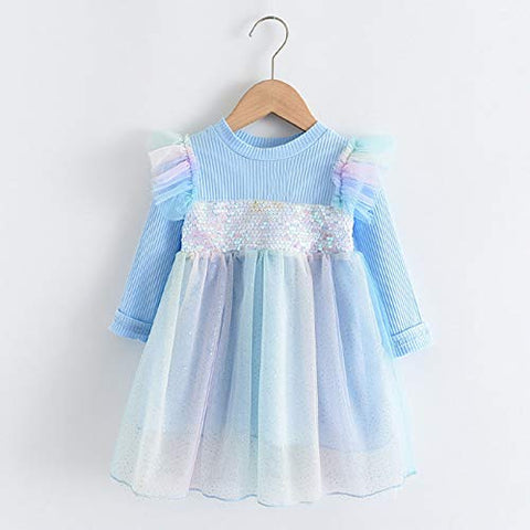 Flower Girl Dress Toddler Girl Dresses Strap Patchwork Tulle Princess Dresses Casual Clothes Casual Dresses Cotton T-Shirt