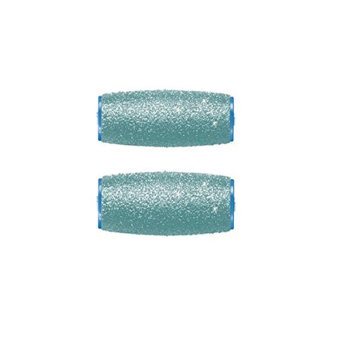 Amope Pedi Perfect With Diamond Crystals Ultra Coarse Roller Heads, 2 ea (Pack of 2)