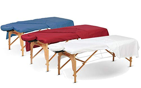 NJSR 600 Thread-Count 3-Piece Massage Table Spa Sheet Set (1Pc Fitted Sheet Fit up to 7