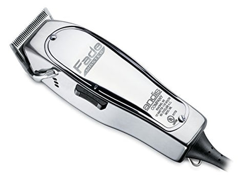 Andis Professional Fade Master Hair Clipper with Adjustable Fade Blade, Silver (01690)