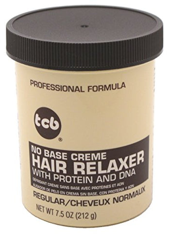 Tcb Hair Relaxer No Base Creme 7.5 Ounce Regular Jar (221ml) (2 Pack)