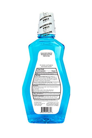 Amazon Brand - Solimo Multi Action Antiseptic Mouthwash, Alcohol Free, Fresh Mint, 1 Liter, 33.8 Fluid Ounces, Pack of 1
