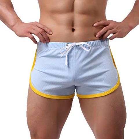 Moonite Men's Summer Sports Shorts Fast-Drying Casual Flatpants Slim Fit Running Shorts