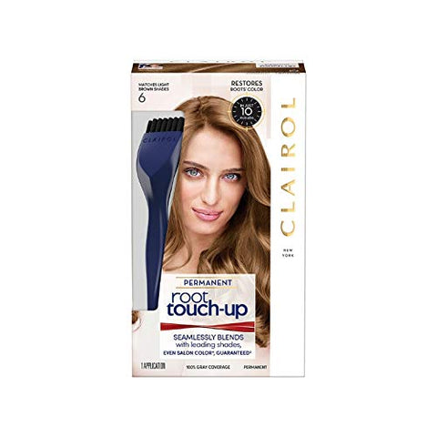 Clairol Nice 'n Easy Root Touch-Up, Light Brown #6(Pack of 2)
