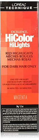 Loreal Excellence Hicolor Hilights Magenta 1.2 Ounce (35ml) (2 Pack)
