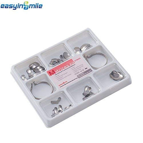 Easyinsmile Set of Dental Matrix 102pcs Full Kit of Dental Sectional Contoured Metal Matrices (Soft, 50m)