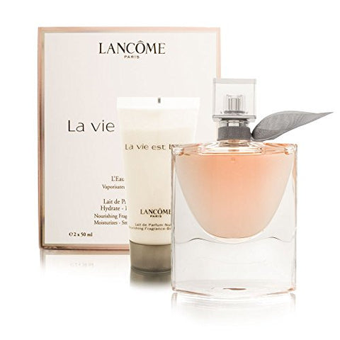 LANCOME La Vie Est Belle For Women 2 Piece Travel Set (1.7 Eau De Parfum Spray + 1.7 Body Lotion), 10002453