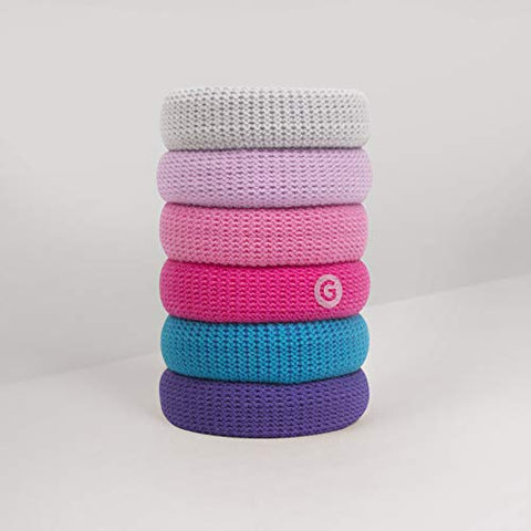 GIMME Bands No Break Thick Hair Ties 6PC (Berry)