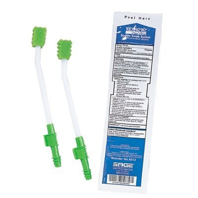 Single Use Suction Swab System with Perox-A-Mint Solution
