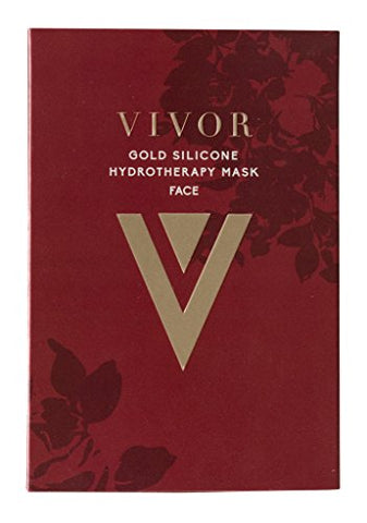 Vivor Gold Silicone Reusable Facial Mask - Hydrotherapy Anti aging Face Beauty Mask Diminish Dark Spots, Wrinkles & Fine Lines. Reusable up to 100 Times!.