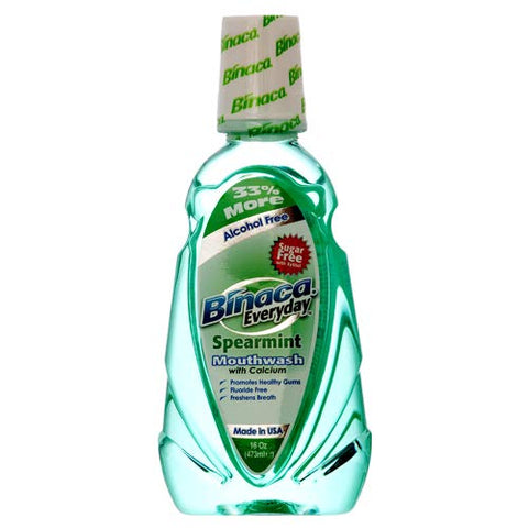 Spearmint New 324720 Mouthwash 16Z Binaca (12-Pack) Oral Care Wholesale Bulk Health & Beauty Oral Care Bud Vase