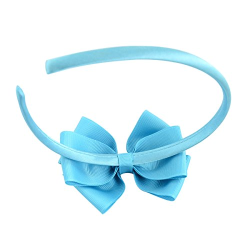 20pcs Multicolor Baby Girls Bowknot Headband Boutique Grosgrain Ribbon Bow Hairband Children Hair Accessories