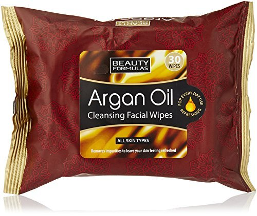 Beauty Formulas Argan Oil Cleansing Facial Wipes (30 wipes)