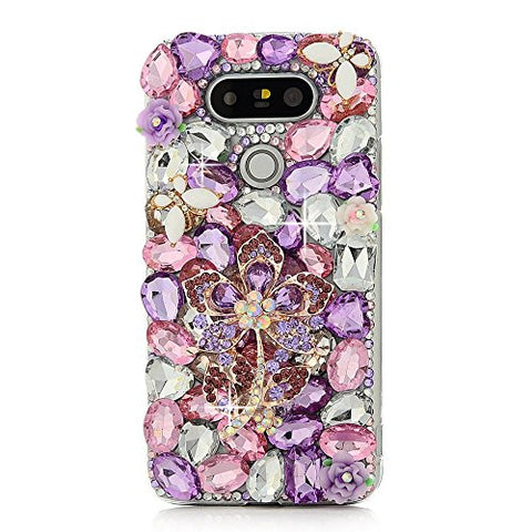 STENES Sparkly Pretty Flowers Case For Huawei Mate 10 Pro - Light Purple