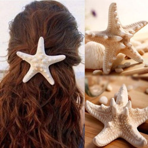 Hair Clip Women Girl Baby Beach Hair Barrette Starfish Hair Accessory (Big 7.5cm)