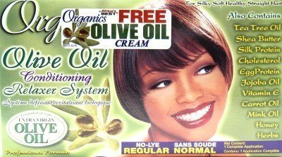 Africa's Best Organic Relaxer Regular No-Lye (3-Pack) with Free Nail File