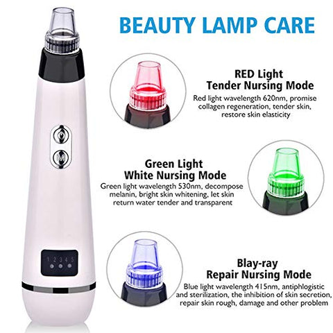 HQYXGS Blackhead Remover, Remove Blackheads Exfoliation Skin Care Equipment Reduce Wrinkles Acne Facial Spa Beauty,A