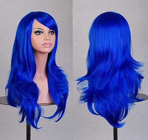 Cos Animation Wig Long Curly Hair Cosplay Color Stage Headset