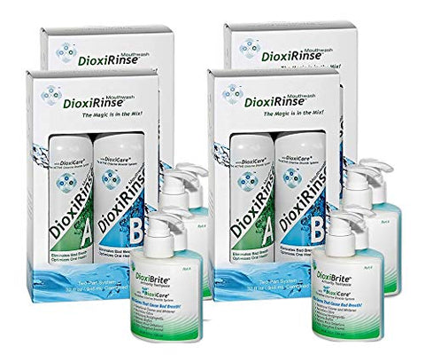 Sensitive Dental Care - DioxiCare 2X Maxi-Pack Highly Effective, Painful Teeth Bleeding Gums Solution