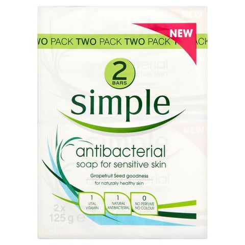 Simple Antibacterial Soap for Sensitive Skin Twin Pack
