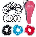 Image of 106 Hair Bands Bobbles and Detangling Brush Set