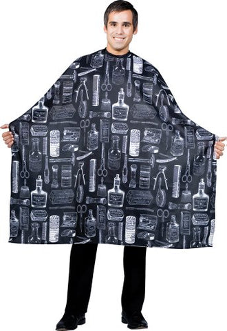 Betty Dain Vintage Print Barber Cutting Cape, Stylish, Lightweight Fabric Repels Hair, Classic Color