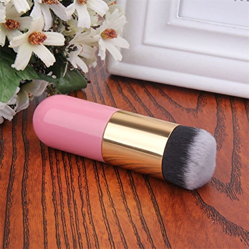 1 Piece Large Makeup Brushes Set Power Blending Cosmetic Make Up Tools Foundation Natural Beauty Palette Eyeshadow Elegant Popular Eyes Faced Colorful Rainbow Hair Highlights Glitter Girls Travel Kit