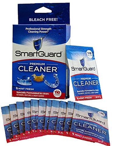 Smart Guard Premium Cleaner Crystals â??(110 Cleanings)  Removes Stain, Plaque & Bad Odor From Dentur
