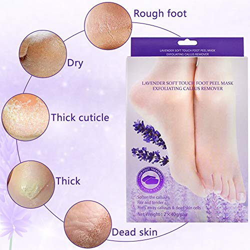 Foot Peeling Mask 2 Pairs Effectively Removes Foot Horny Skin Dead Skin Thick Hard Skin Restores Soft Smooth Baby Feet