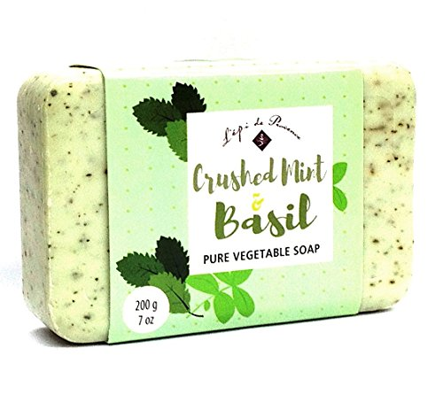 French Soap - Crushed Mint & Basil- by L'epi de Provence - 200 gr. Bar