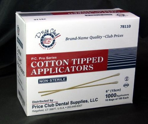 "Value-Pack 2,000 x 6"" (Inches) Cotton-Tipped Applicator/Cotton Swab/Q-Tips"