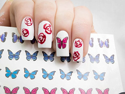 Butterfly Collection (Butterfly Nail Art Decal C1)