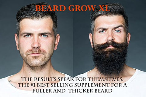 Beard Grow Xl | Facial Hair Supplement | Vegan | #1 Mens Hair Growth Vitamins | For Thicker And Full