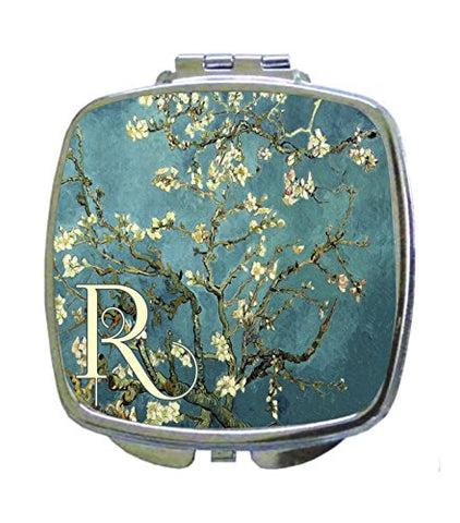 Van Gogh Almond Blossoms Rosie Parker Inc. CUSTOMIZABLE Compact Mirrors- Square