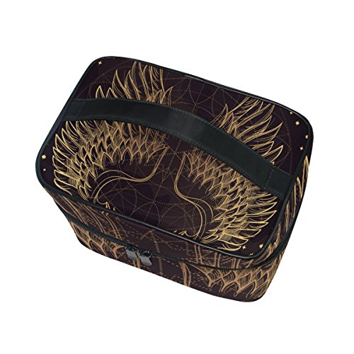 Cooper girl Angel Wing Cosmetic Bag Travel Makeup Train Cases Storage Organizer
