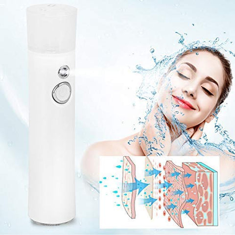 Nano Facial Mister Spray Atomizing Haze Face Fresh Mist Spray Hydration Sprayer USB Moisturizing & Moisturizing for Skin Care