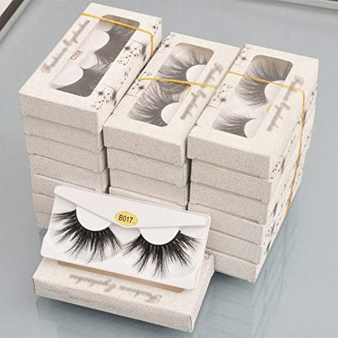 wholesale 25mm lashes 3D mink eyelashes 10 pairs/pack false full strip lashes faux cils natural long glitter paper packaging box,10pairs B008