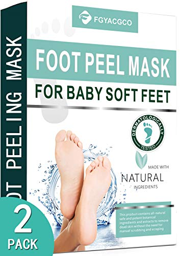 Foot Peel Mask 2 Pack, Peeling Away Calluses and Dead Skin Cells, Make Your Feet Baby Soft, Exfoliating Foot Mask, Get Silky Soft Feet by Lavinso (Fragrance?2Pack?)