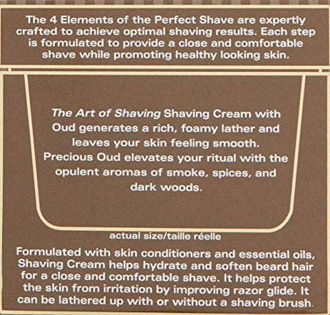 The Art Of Shaving Shaving Cream, Oud, 5 Fl Oz