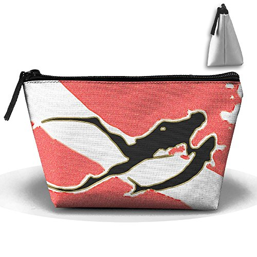 Vintage Better Dive Flag Multifunction Portable Mini Makeup Bag Cosmetic Bag For Home Office Travel Sport Gym Outdoor